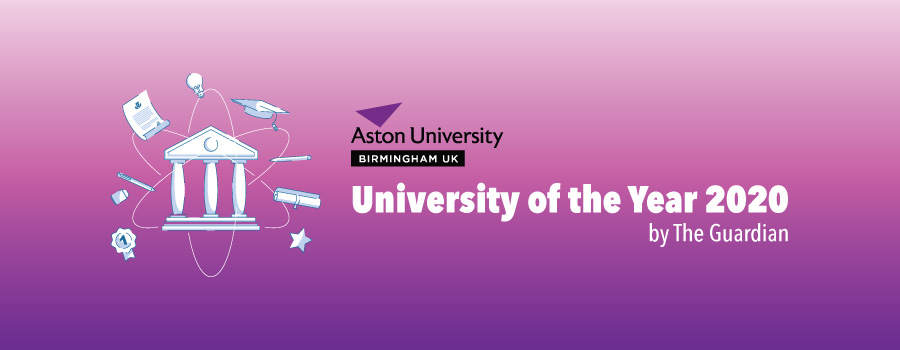 Aston University being crowned with The Guardian University of the Year!